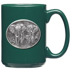Elephant Green Coffee Cup