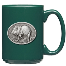 Javelina Green Coffee Cup