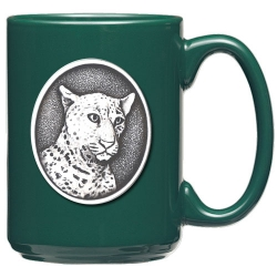 Leopard Green Coffee Cup