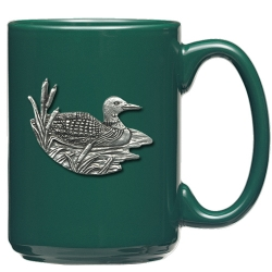 Loon Green Coffee Cup