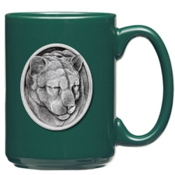 Mountain Lion Green Coffee Cup