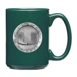 University of Miami Green Coffee Cup