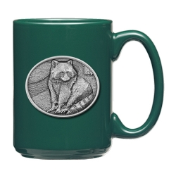Racoon Green Coffee Cup