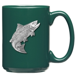 Salmon Green Coffee Cup