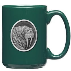 Walrus Green Coffee Cup
