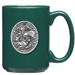 Bighorn Sheep Green Coffee Cup #2