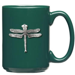 Dragonfly Green Coffee Cup