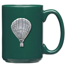 Hot Air Balloon Green Coffee Cup