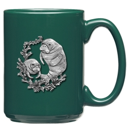 Manatee Green Coffee Cup