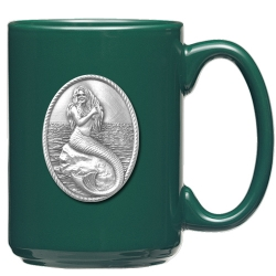 Mermaid Green Coffee Cup