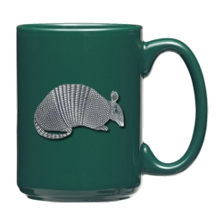 Armadillo Green Coffee Cup