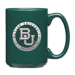 Baylor University Green Coffee Cup - Enameled