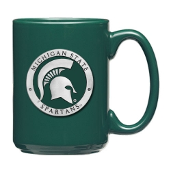 Michigan State University Green Coffee Cup - Enameled