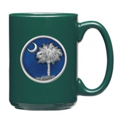 South Carolina Palmetto Green Coffee Cup - Enameled