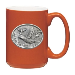 Hummingbird Orange Coffee Cup #1