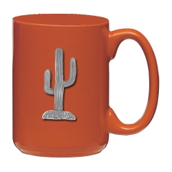 Saguaro Cactus Orange Coffee Cup