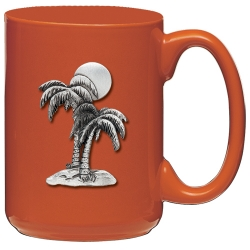 Palm Tree Orange Coffee Cup