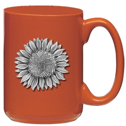 Sunflower Orange Coffee Cup