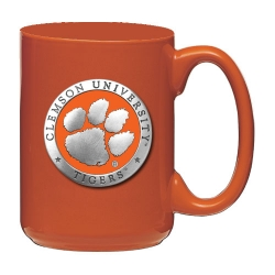 Clemson University Orange Coffee Cup - Enameled