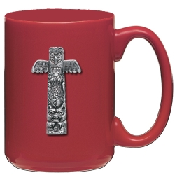 Totem Pole Red Coffee Cup