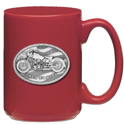 Motorcycle Red Coffee Cup