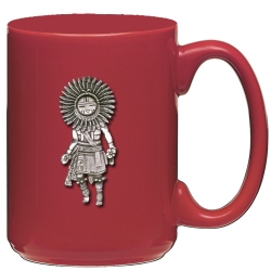 Sun Kachina Red Coffee Cup