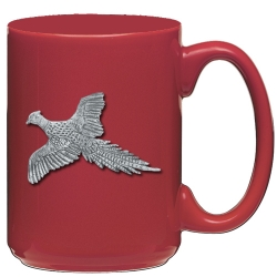 "Pheasant ""Flight"" Red Coffee Cup"