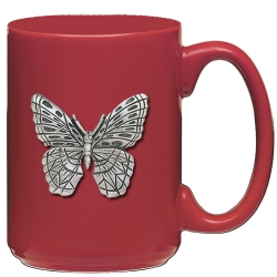 Butterfly Red Coffee Cup