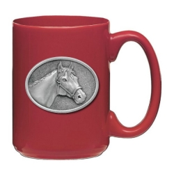 Racehorse Red Coffee Cup