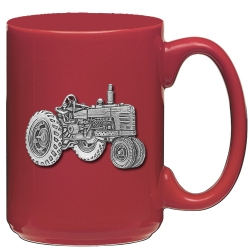 Tractor Red Coffee Cup