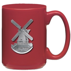 Windmill Red Coffee Cup