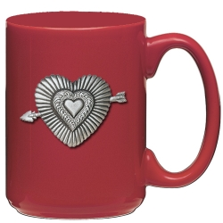 Heart Red Coffee Cup