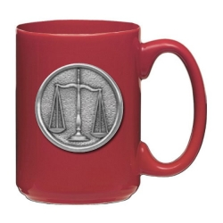 Law - Scales of Justice Red Coffee Cup