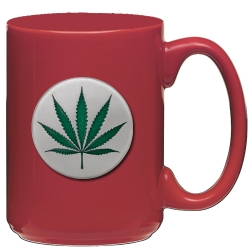Marijuana Red Coffee Cup - Enameled