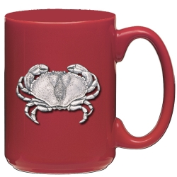 Sand Crab Red Coffee Cup
