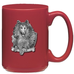 Collie Red Coffee Cup