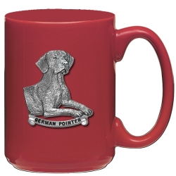 German Pointer Red Coffee Cup