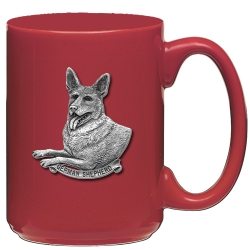 German Shepherd Red Coffee Cup