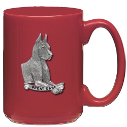 Great Dane Red Coffee Cup