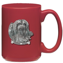 Lhasa Apso Red Coffee Cup
