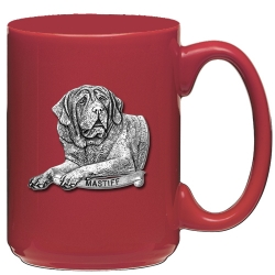 Mastiff Red Coffee Cup