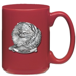 Pomeranian Red Coffee Cup