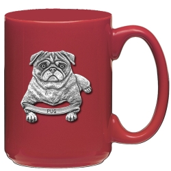 Pug Red Coffee Cup