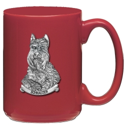 Schnauzer Red Coffee Cup