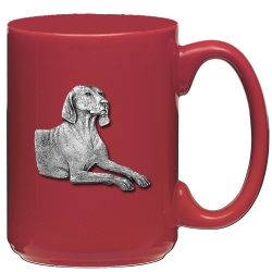 Weimaraner Red Coffee Cup