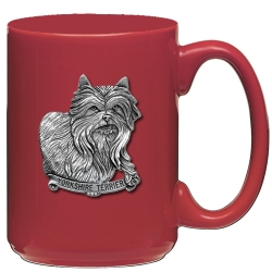 Yorkshire Terrier Red Coffee Cup