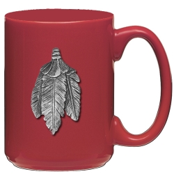 Feathers Red Coffee Cup