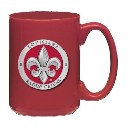 Louisiana at Lafayette Red Coffee Cup - Enameled