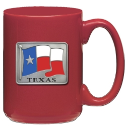 Texas Red Coffee Cup - Enameled