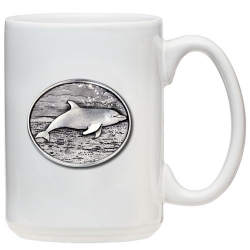 Dolphin White Coffee Cup
